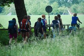 wandelende groep